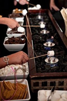 Smores Bar! Someone has to do this @Lauren Blasi I wish we could do this for your shower!