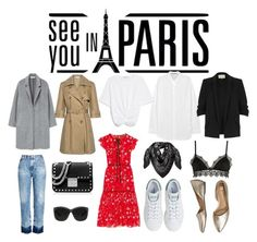 """""""Parisian chic 👠 French basic wardrobe"""" by elisa-tapiola ❤ liked on Polyvore featuring MANGO, Acne Studios, RED Valentino, adidas, Bzees, AG Adriano Goldschmied, Ermanno Scervino Lingerie, River Island, MCM and MICHAEL Michael Kors"""