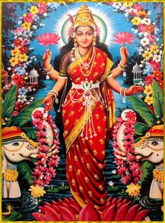 She is the wife and shakti (energy) of Vishnu, one of the principal deities of Hinduism and the Supreme Being in the Vaishnavism Tradition Lakshmi Images, Krishna Images, Saraswati Goddess, Durga Maa, Diwali Pooja, Mother Goddess, Religious Images, Hindu Deities, God Pictures