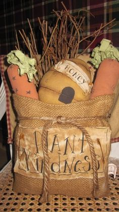 Primitive Easter Tree Decor | Kindness Goodie Pouch