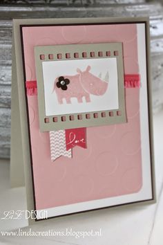 LizDesign Stampin Up Cute baby card