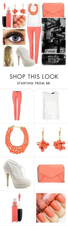 """Classy Shopping on 5th Avenue"" by annalaris on Polyvore featuring Oui, Fabulicious, Kate Spade, MAC Cosmetics, Casetify, Avenue, women's clothing, women's fashion, women and female"