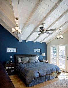 20 Marvelous Navy Blue Bedroom Ideas