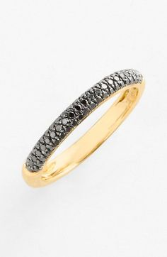 Bony Levy 'Stick' Pavé Black Diamond Ring