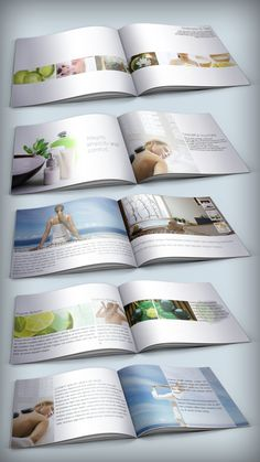 Dejar algunas paginas casi en blanco. Spa Center Brochure