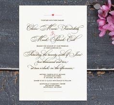 The Jean DIY Wedding Invitations. $80,00, via Etsy.