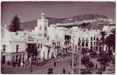 Tetuán (Protectorado español en Marruecos): Plaza de España. Foto García Cortés. Circulada (Años 50), 4 + 3 €