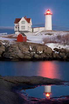 One of my absolute favorite places!!!<33 Nubble Lighthouse, York, Maine