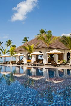 At the heart of Residence Zanzibar, a glassed-in infinity pool offers underwater views of the beach. #Jetsetter