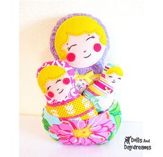Babushka Nesting Dolls Pattern