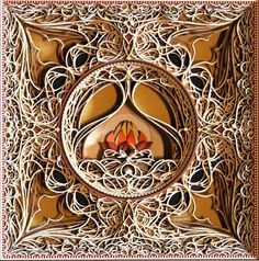 D Laser Cut Paper Art Eric Standley Layered Complex Intricate - Beautiful laser cut paper art eric standley