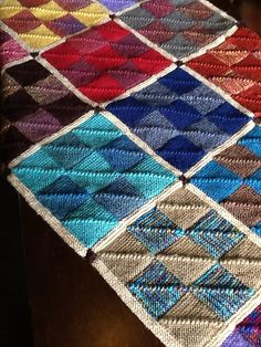 Ravelry: Nine Patch Mitered Square Afghan pattern by Nancy Wilson