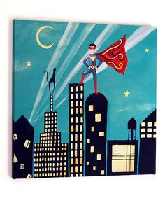 Take a look at this Superhero Wall Art  by CiCi Art Factory on #zulily today!