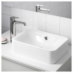 HÖRVIK Countertop sink, white, 17 Natural dolomite has been crushed and formed into this beautifully-shaped sink with a glossy and scratch-resistant surface. We proudly offer a warranty on all our crushed marble sinks. Sink Countertop, White Countertops, Kitchen Countertops, Ikea Bathroom, Small Bathroom, Bathroom Sinks, Serene Bathroom, Tiny Bathrooms, Bathroom Remodeling
