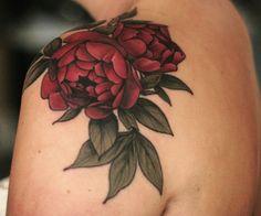 Peonies by Alice Carrier - Camille - Tattoo Henna, Tatoo Art, Tattoo You, Body Art Tattoos, Sleeve Tattoos, Tatoos, Pretty Tattoos, Beautiful Tattoos, Peonies Tattoo