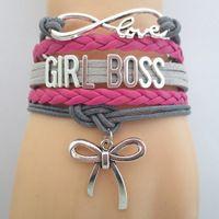 Infinity Love GIRL BOSS Bracelet  Customize wristband friendship Bracelets B09621
