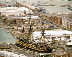 The HMS Victory in permanent dry dock, the hull wood has dried out and can no longer be sealed for sea worthiness.