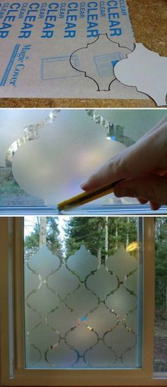 A great solution to add some privacy to your windows.