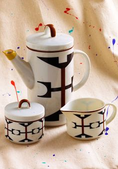 Vintage Abstract Clinking Tea Set, #ModCloth