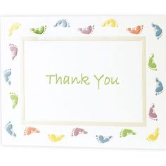 Baby Feet Baby Shower Thank You Notes - Party City