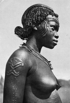 Africa | Meno woman.  Asongo, Congo || Scanned vintage postcard.
