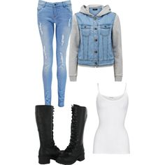 I love this but I would wear ankle boots not knee highs.