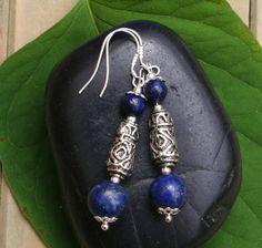 Lapis Lazuli Oorbellen Met Tibetaanse Zilveren door EASTERNSOULS
