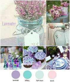 Color Series #12 : Lavender + Tiffany Blue