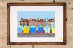 An art print designed and made by Kelly at Poppins & Co.  Features a colour illustration of the seafront, 100 yards from our lovely home in Hove, England.  Digitally printed onto high-quality beautifully textured card. Frame NOT included.   Purchase includes:  1 x A4 Art Print  Product Details:  Size: A4 (210mm x 297mm) Quantity: 1 Card: High Quality 290GSM ivory coloured lightly-textured matte finish   Shipping Details:  Packaging: Cello-wrapped, packaged in a hard-back envelope for…