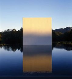 James Turrell - Stone Sky - Wow, epic proportions. Using the shadow of the land on the canvas, reflected in the waters.