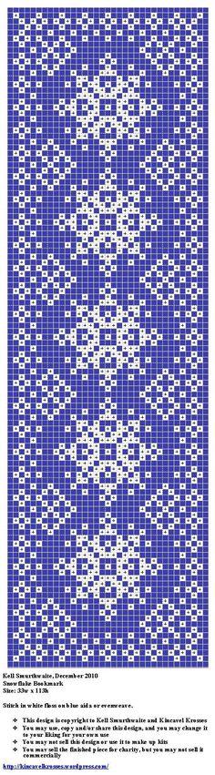 Snowflake Bookmark, designed by @Kell Smurthwaite of Kincavel Krosses.