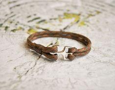 Anchor bracelet mens bracelet nautical bracelet for men paracord bracelet mens anchor bracelet fish hook bracelet leather bracelet (10.00 EUR) by CristinaHandmade
