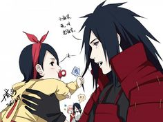 Uncle Madara. That is actually cute!! I love Sasuke in the back freaking out. :P