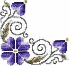 Corners - Machine Cross Stitch Embroidery Designs Embroidery Patterns Free, Machine Embroidery, Embroidery Designs, Crochet Patterns, Cross Stitching, Cross Stitch Embroidery, Beaded Embroidery, Cross Stitch Designs, Cross Stitch Patterns