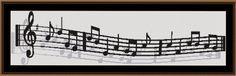 Free Cross Stitch Patterns: Musical Notes Free Cross Stitch Pattern