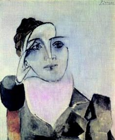 """In 1936 54-year old Picasso met Yugoslavian Dora Maar (1907 -1997), the photographer who documented Picasso's painting of Guernica, the 1937 painting of Picasso's depiction of the German's having bombed the Basque city of Guernica, Spain during the Spanish Civil War.   She became Picasso's constant companion and lover from 1936 through April, 1944.  Maar went back to painting and exhibited in Paris soon after Picasso left her for Françoise.  Picasso referred to Dora as his """"private muse""""."""