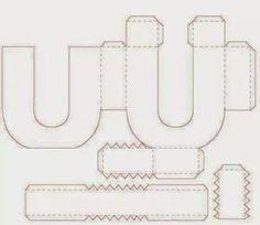 Eu Amo Artesanato: Letras em 3D com molde 3d Alphabet, Alphabet Templates, Kirigami, Diy And Crafts, Paper Crafts, Paper Pom Poms, Origami Paper Art, 3d Letters, Printable Letters