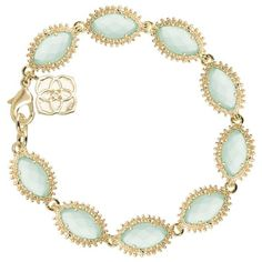 Jana Bracelet   Chalcedony ($80) ❤ liked on Polyvore featuring jewelry, bracelets, green, pandora jewelry, 14k bangle, womens jewellery, 14k charm and charm jewelry