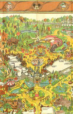 Vintage Disneyland Map Fantasyland