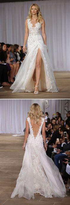 Vestidos de noiva de costas