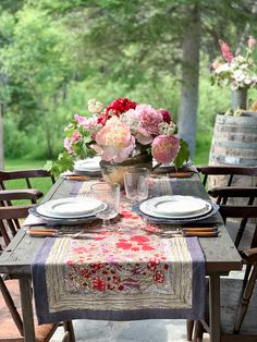 Summer dining table decor - How To Set A Simple French Country Summer Table – Summer dining table decor French Country Living Room, French Country Cottage, French Country Style, Country Décor, Country Homes, French Table Setting, Country Table Settings, Beautiful Table Settings, French Decor