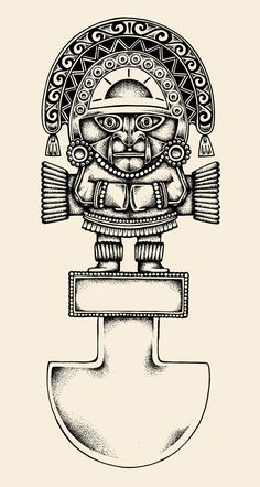 Tumi tattoo designYou can find Inca tattoo and more on our website. Mayan Tattoos, Leg Tattoos, Tribal Tattoos, Sleeve Tattoos, Female Tattoos, Indian Tattoos, Samoan Designs, Arte Tribal, Aztec Art