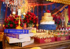 Beauty and the Beast Party Festa Bela & Fera Kids Party Themes, Diy Party Decorations, Birthday Decorations, Quince Decorations, Party Ideas, Beauty And The Beast Wedding Theme, Beauty And Beast Birthday, Bueaty And The Beast, Fairytale Weddings