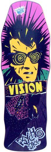 Old school skateboard graphics