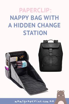 The genius nappy bag with a hidden change station