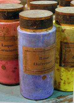 vintage French paints