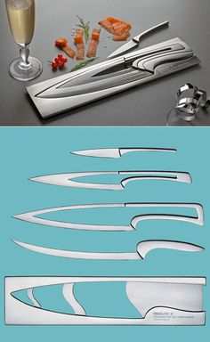 Deglon Meeting knife set gift by Mia Schmallenbach, produced by Deglon in France.
