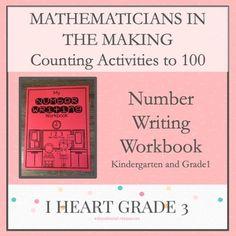 Mathematicians in the Making: Number Writing Workbook - Modern Design Teaching Math, Math Math, Math Fractions, Math Games, Maths, Creative Teaching, Special Education Classroom, Math Education, Elementary Education