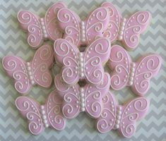 One Dozen 12 Butterfly Custom Decorated Sugar by DolceDesserts, $33.00
