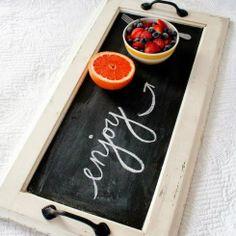 Ιδέες Για Το Τραπέζι Με Μπογιά Μαυροπίνακα / Check Out How You Can Use Blackboard Paint
